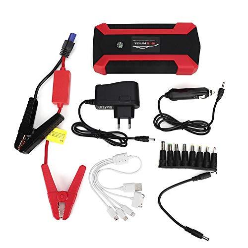 Auto Starthilfe, Starthilfegeräte für Autobatterien 20000mAh Multifunktionaler tragbarer Auto-Starthilfe 4 USB-Ladegerät Batterie 12V Power Bank EU-Stecker (EU-Stecker)