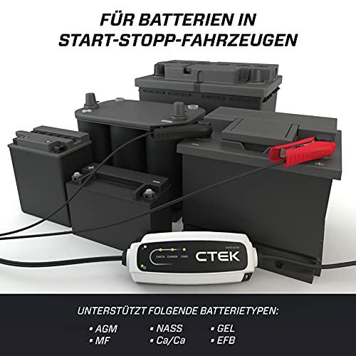 CTEK 40107 CT5 START/STOP, Batterieladegerät 12V, Erhaltungsladegerät, IntelligentesLadegerätAutobatterie,LadegerätAuto,BatteriepflegerMitEntsulfatierungsprogrammUndStart/Stop-Technologie