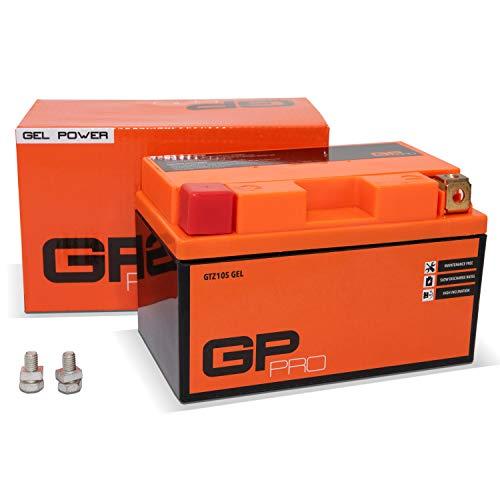 GP-PRO GTZ10S 12V 9Ah GEL-Batterie (Kompatibel mit YTZ10S / YTZ10-BS) (Wartungsfrei & Versiegelt) Akkumulator Motorrad Motorradbatterie