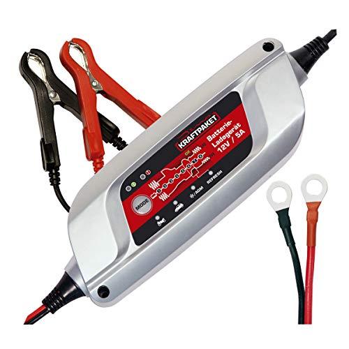 Dino KRAFTPAKET 5A-12V Batterieladegerät IP65 für KFZ Auto Motorrard Quad ATV Boot