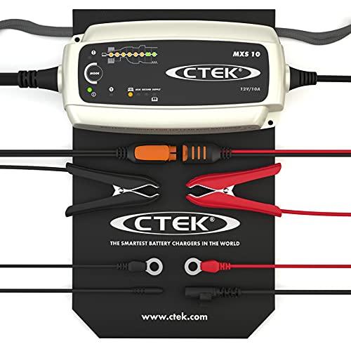 CTEK MXS 10, Batterieladegerät 12V 10A, Für Größere Fahrzeugbatterien, Batterieladegerät Boot, Wohnwagen, LKW, Wohnmobil Ladegerät, Rekonditionierungsmodus, Versorgungsfunktion Und AGM-Option