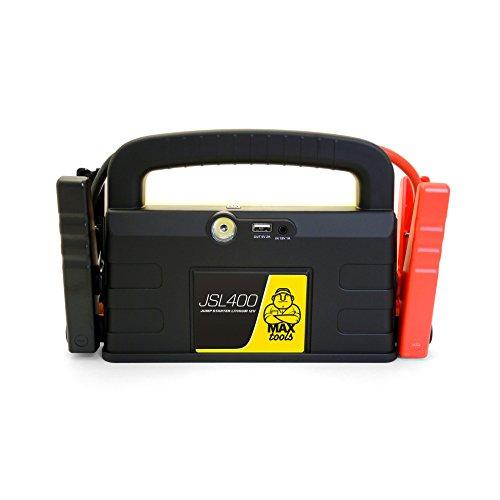 MAXTOOLS JSL400, professioneller 2400-A-Lithium-Notstarter für große 12 V Diesel- und Benzinfahrzeuge, leistungsstarker und sicherer 12-V-Booster, Powerbank mit USB und Starthilfekabel