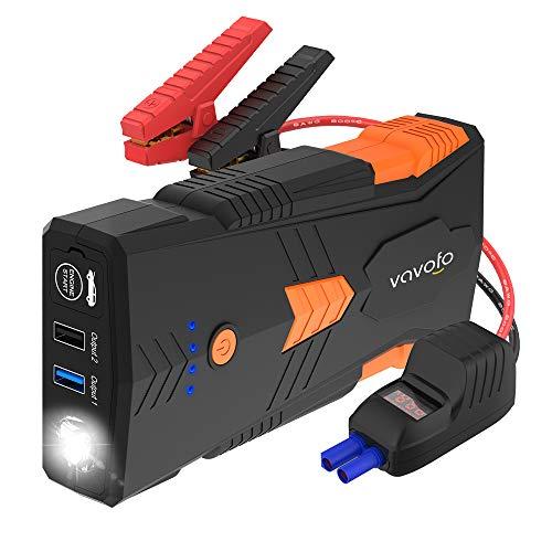 VAVOFO 1500A Auto Starthilfe Tragbarer Starthilfe Power Bank Starthilfegeräte G23P 2019 für Auto, Motorrad - 12800mAh (bis zu 8.0L Gas, 6.5L-Dieselmotor), 12V Auto Battery Booster