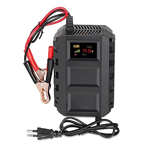 Autobatterie Ladegeräte 8A/10A 12V/24V KFZ Batterieladegerät Mehrfachschutz Starthilfegerät Automatisch mit LCD-Bildschirm Erhaltungsladegerät für Auto und Motorrad Rasenmäher oder Boot