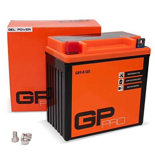 GP-PRO GB9-B 12V 9Ah GEL-Batterie (Kompatibel mit YB9-B / 50914) (Wartungsfrei & Versiegelt) Akkumulator Motorrad Roller Motorradbatterie Rollerbatterie