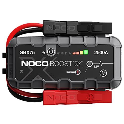 NOCO Boost X GBX75 2500A 12V UltraSafe Starthilfe, Tragbare Auto Batterie Booster, Powerbank-Ladegerät, Starthilfekabel und Überbrückungskabel für bis zu 8,5-Liter-Benzin- und 6,5-Liter-Dieselmotoren