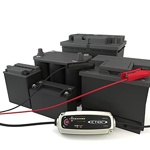 CTEK 56-305 MXS Batterieladegerät 5 Batterieladegerät Mit Automatischer Temperaturkompensation, 12V 5 Amp (EU Stecker)