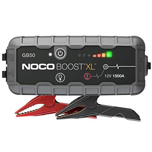 NOCO Boost XL GB50 1500A 12V UltraSafe Starthilfe Powerbank, Tragbare Auto Batterie Booster, Starthilfekabel und Überbrückungskabel für bis zu 7-Liter-Benzin- und 4-Liter-Dieselmotoren