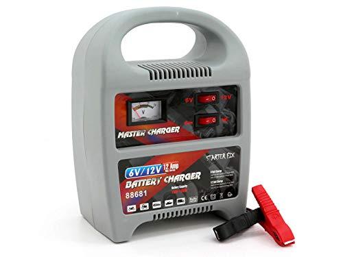 Batterie Ladegerät von Starter Fix, Ladestation für ihre leeren Autobatterien mit Einer Spannung von 6-12V 12 Amp
