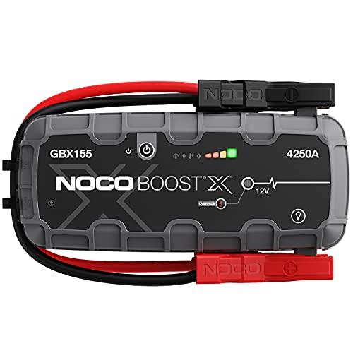 NOCO Boost X GBX155 4250A 12V UltraSafe Starthilfe, Tragbare Auto Batterie Booster, Powerbank-Ladegerät, Starthilfekabel und Überbrückungskabel für bis zu 10-Liter-Benzin- und 8,0-Liter-Dieselmotoren