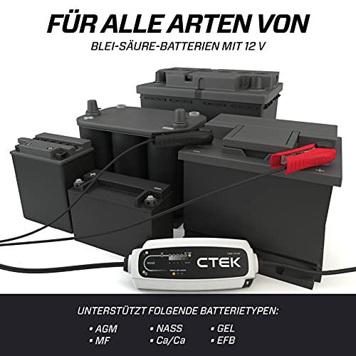CTEK CT5 Time To Go, Batterieladegerät 12V 5A, Batteriepfleger Mit Countdown-Funktion, Startanzeige, Eingebaute Temperaturkompensation, Entsulfatierungsprogramm, Rekonditionierungsmodus Und AGM-Option