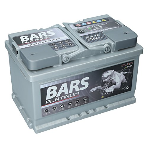 Autobatterie 12V 75Ah 750A Bars Platinum Starterbatterie Wartungsfrei