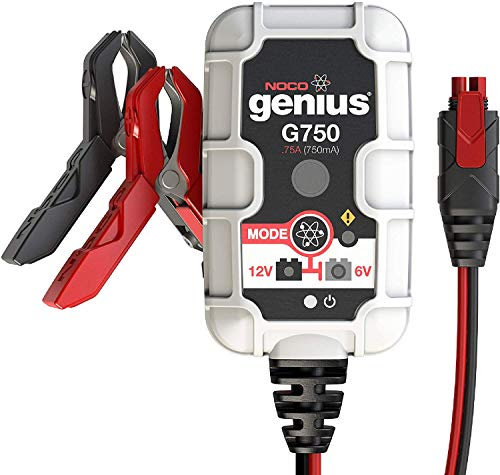 NOCO Genius G750EU 6V und 12V 1-Amp Vollautomatisches Intelligentes Batterieladegerät und Erhaltungsladegerät