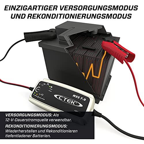 CTEK MXS 7.0, Batterieladegerät 12V 7A, Für Größere Fahrzeugbatterien, Batterieladegerät Boot, LKW, Wohnwagen, Wohnmobil Ladegerät, Versorgungsfunktion, Rekonditionierungsmodus Und Winterprogramm