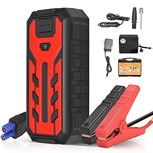 4YANG Starthilfe Powerbank 600A 12V Tragbarer Auto-Starthilfe 28000mAh UltraSafe Autobatterie Booster Ladegerät Autobatterie für bis zu 7-Liter-Benzin- und 4-Liter-Dieselmotoren