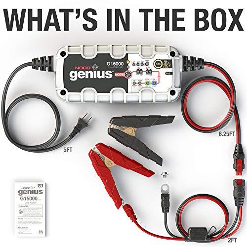 NOCO Genius G15000EU 12V/24V 15A Pro Series UltraSafe Intelligentes Aufladegerät