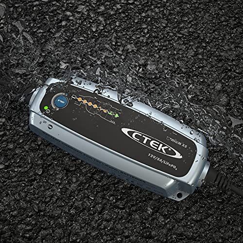 CTEK Lithium XS Multi-Funktions Batterieladegerät Mit 8-Stufen Ladeprogramm, 12V 5 Amp