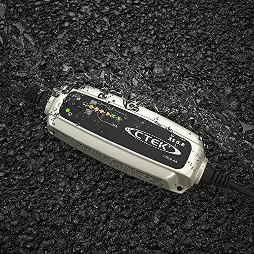 CTEK CTK56707 XS 0.8 - Vollautomatisches Batterie-Ladeerhaltungsgerät (Zur Langezeit-Erhaltung von Batterien für Motorräder und andere kleinere Fahrzeuge) 12V, 0,8 A - EU Stecker