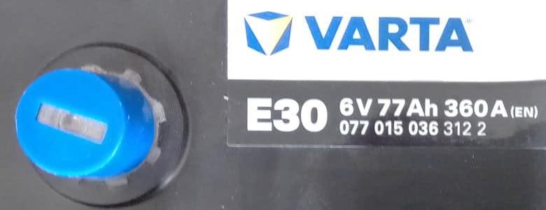 Autobatterie Varta 6V 77AH